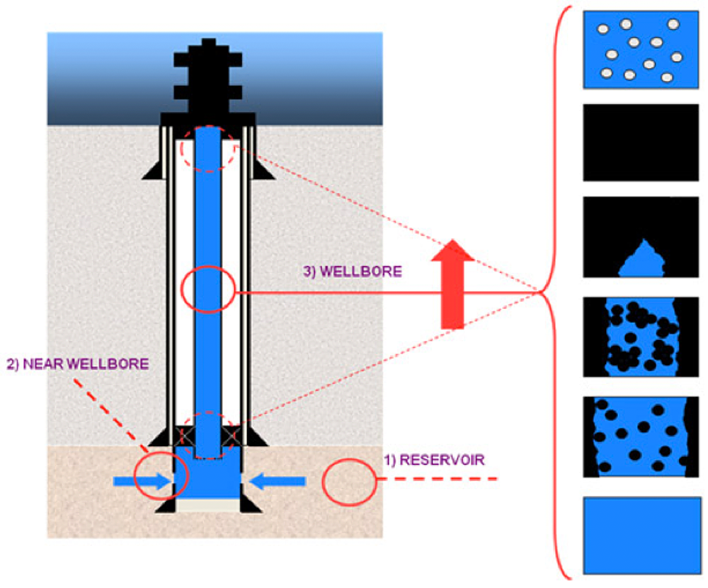 wellbore and detail